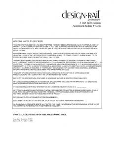 3-Part Specification Aluminum Railing System