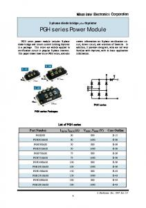 3-phase diode bridge plus thyristor PGH series Power Module