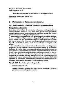3 Polinomios y funciones racionales