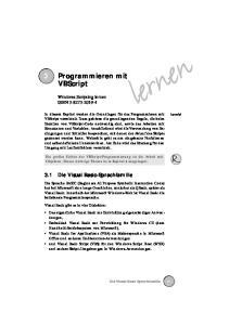 3 Programmieren mit VBScript