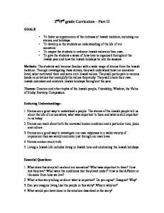 3 rd grade Curriculum Part II