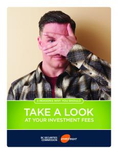 3 REASONS WHY YOU SHOULD TAKE A LOOK AT YOUR INVESTMENT FEES