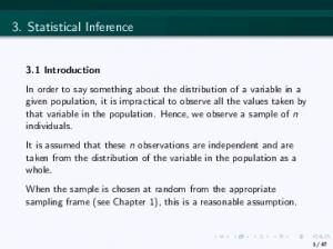 3. Statistical Inference