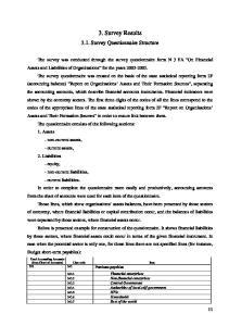 3. Survey Results Survey Questionnaire Structure