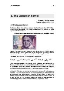 3. The Gaussian kernel