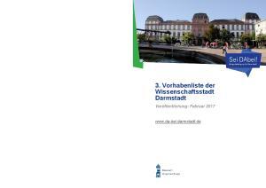 3. Vorhabenliste der Wissenschaftsstadt Darmstadt