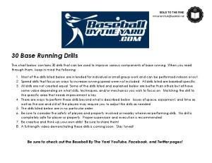 30 Base Running Drills