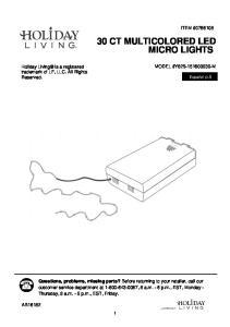 30 CT MULTICOLORED LED MICRO LIGHTS