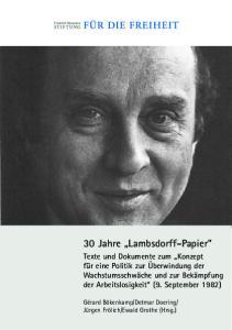 30 Jahre Lambsdorff-Papier