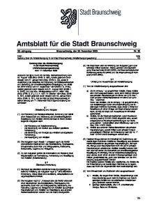 30. Jahrgang Braunschweig, den 30. Dezember 2003 Nr. 20