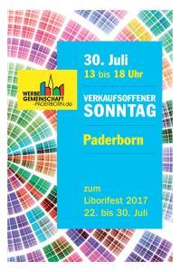 30. Juli 13 bis 18 Uhr VERKAUFSOFFENER SONNTAG. Paderborn. zum Liborifest bis 30. Juli. romas_ph - Fotolia.com