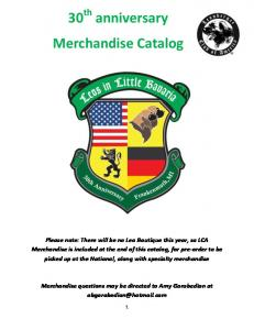 30 th anniversary. Merchandise Catalog. Merchandise Offerings