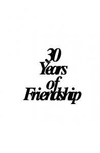 30 Years of Friendship