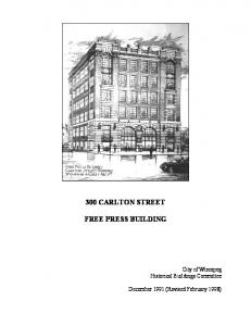 300 CARLTON STREET FREE PRESS BUILDING
