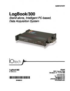 300 Stand-alone, Intelligent PC-based, Data Acquisition System