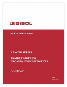 300MBPS WIRELESS BROADBAND HOME ROUTER