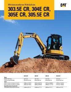 303.5E CR, 304E CR, 305E CR, 305.5E CR