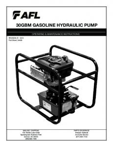 30GBM GASOLINE HYDRAULIC PUMP