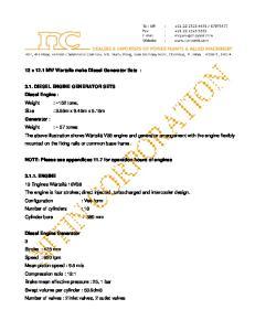 3.1. DIESEL ENGINE GENERATOR SETS