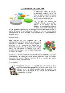 3.1 ESTRUCTURAL FUNCIONALISMO