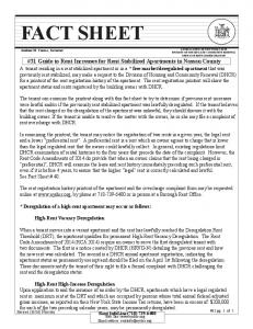 #31 Guide to Rent Increases for Rent Stabilized Apartments in Nassau County. Rent InfoLine (718)