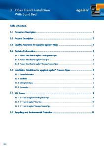 3.1 Procedure Description Product Description Technical Information General Information Installation