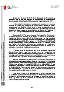 31. Región de Murcia Consejería de Presidencia y Fomento. Plaza de Santoña, Murcia