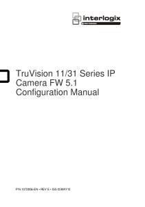 31 Series IP Camera FW 5.1 Configuration Manual