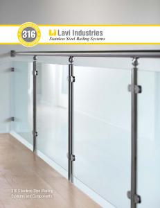 316 Stainless Steel Railing Systems and Components. Stainless Steel Railing Systems