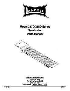 318D Series Semitrailer Parts Manual