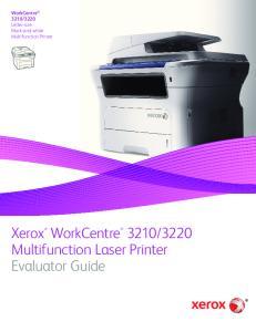 3220 Multifunction Laser Printer Evaluator Guide