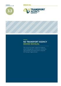 3.3 NZ TRANSPORT AGENCY BRAND MANUAL. version FEBRUARY 2016