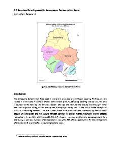 3.3 Tourism Development in Annapurna Conservation Area