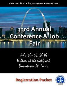 33rd Annual Conference & Job Fair