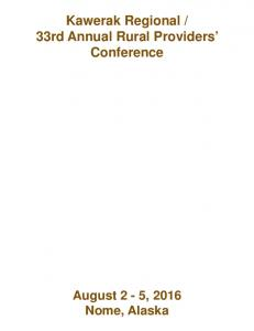 33rd Annual Rural Providers Conference