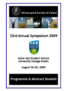 33rd Annual Symposium 2009