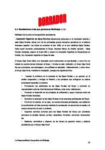 3.4 Asociaciones a las que pertenece Multicaja (4.13)