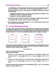 3.4 Ley de Enfriamiento de Newton