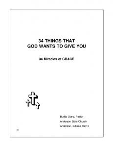 34 THINGS THAT GOD WANTS TO GIVE YOU