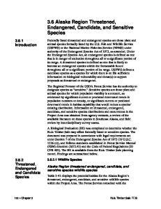 3.6 Alaska Region Threatened, Endangered, Candidate, and Sensitive Species