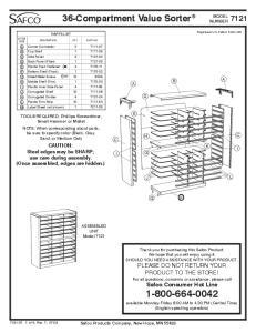 36-Compartment Value Sorter 7121