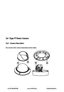 3.6 Type VI Dome Camera