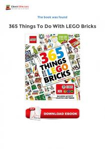 365 Things To Do With LEGO Bricks free ebooks online