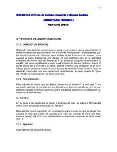 3.7. FONDOS DE AMORTIZACIONES