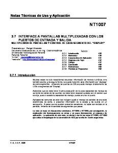 3.7 INTERFACE A PANTALLAS MULTIPLEXADAS CON LOS