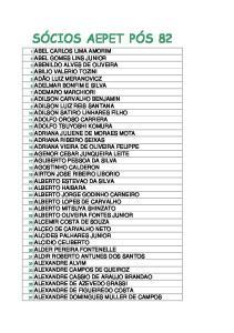38 ALEXANDRE FARIAS DE SOUZA 39 ALEXANDRE GIRAO LIMA VERDE 40 ALEXANDRE GOMES DA SILVA 41 ALEXANDRE JORGE DA SILVEIRA SALGADO 42 ALEXANDRE LOPES 43