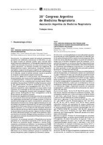 38 Congreso Argentino de Medicina Respiratoria