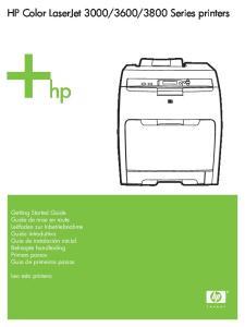 3800 Series printers