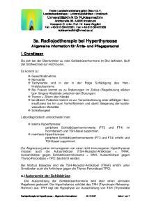 3a. Radiojodtherapie bei Hyperthyreose