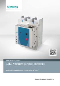 3AK7 Vacuum Circuit-Breakers